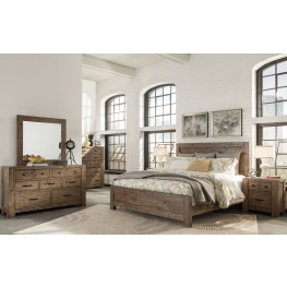Griffith Weathered Toffee Panel Bedroom Set