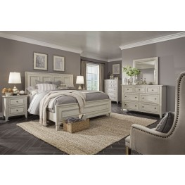 Raelynn Weathered White Panel Bedroom Set
