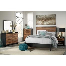Stavani Black and Brown Panel Bedroom Set