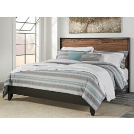 Stavani Black and Brown King Panel Bed