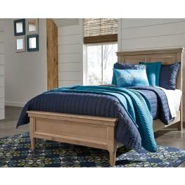 Klasholm Light Brown Twin Panel Bed