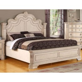 Riviera Alabaster Queen Panel Bed