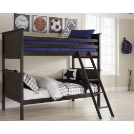 Jaysom Black Twin Over Twin Bunk Bed