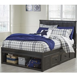 Jaysom Black Full Panel Storage Bed