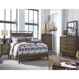 Zilmar Brown Upholstered Panel Bedroom Set