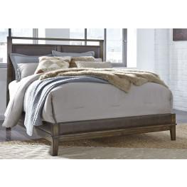 Zilmar Brown Queen Upholstered Panel Bed