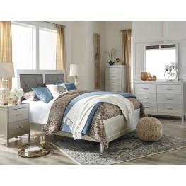 Olivet Silver Upholstered Panel Bedroom Set