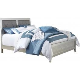 Olivet Silver Cal.King Upholstered Panel Bed