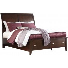 Evanburg Brown King Sleigh Storage Bed