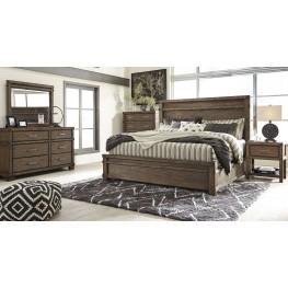Leystone Dark Brown Panel Bedroom Set