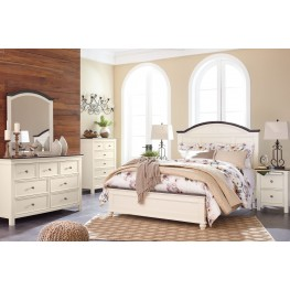 Woodanville White and Brown Panel Bedroom Set