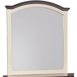 Woodanville White and Brown Bedroom Mirror