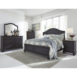 Sharlowe Charcoal Storage Panel Bedroom Set