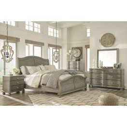 Marleny Gray and Whitewash Sleigh Bedroom Set