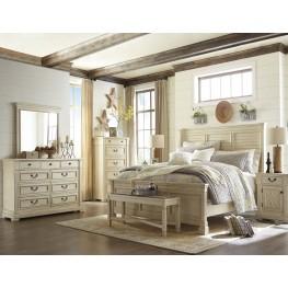 Bolanburg White Louvered Panel Bedroom Set