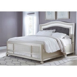 Coralayne Silver King Panel Bed