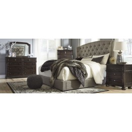 Gerlane Graphite Upholstered Panel Bedroom Set