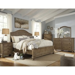 Trishley Light Brown Panel Bedroom Set