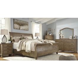Trishley Light Brown Sleigh Bedroom Set