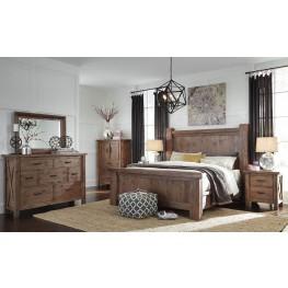 Tamilo Grayish Brown Poster Bedroom Set