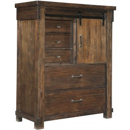Lakeleigh Brown 5 Drawer Chest
