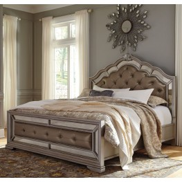 Birlanny Silver Queen Upholstered Panel Bed