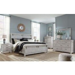 Brashland White Panel Bedroom Set