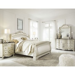 Cassimore North Shore Pearl Silver Sleigh Bedroom Set