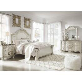 Cassimore North Shore Pearl Silver Panel Bedroom Set