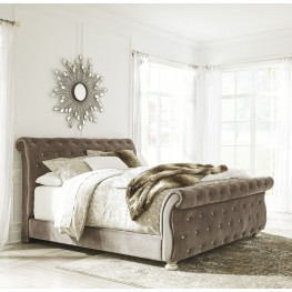 Cassimore Pearl Silver  Piece Bed Set King Ashley