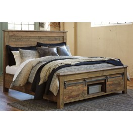 Sommerford Brown Queen Storage Panel Bed