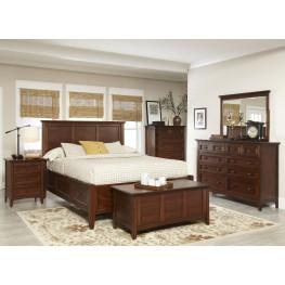 Becon Street Medium Mahogany Storage Panel Bedroom Set
