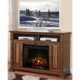 Barclay Rustic Acacia Fireplace Media Center