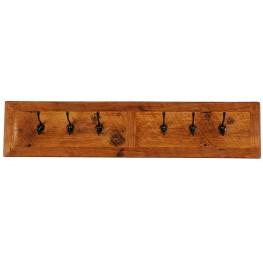 """Barnwood 36"""" Wall Coat Rack With 6 Pegs"""