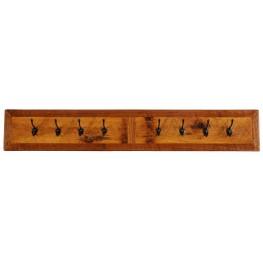 """Barnwood 48"""" Wall Coat Rack With 8 Pegs"""