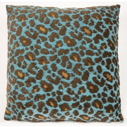 "Wild Life Turquoise 22"" Square Pillow"