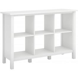 Broadview Pure White 6 Cube Storage Bookcase