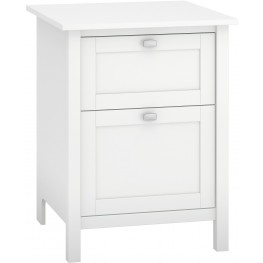 Broadview Pure White 2 Drawer File Cabinet