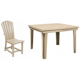 "Generations Beige 46"" Square Dining Room Set"