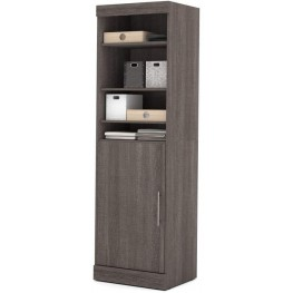 "Nebula Bark Gray 25"" Storage Unit with Door"