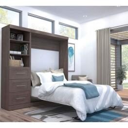 "Pur Bark Gray 84"" Full Wall Bed Kit"