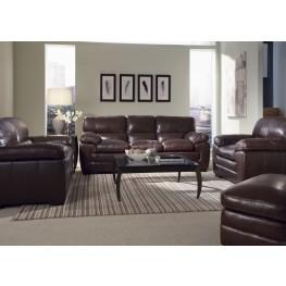 Biscayne Longhorn Black Oak Leather Living Room Set