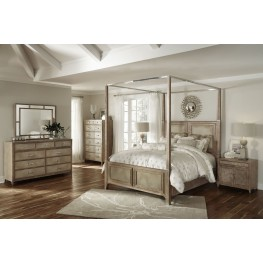 Biscayne West Sand Canopy Bedroom Set