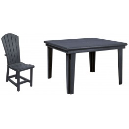 "Generations Black 46"" Square Dining Room Set"