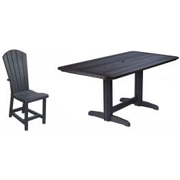 "Generations Black 36"" Double Pedestal Dining Room Set"