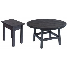 "Generations Black 37"" Round Pedestal Dining Room Set"