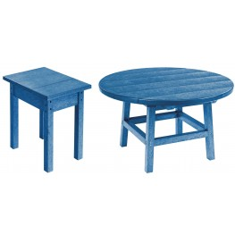 "Generations Blue 32"" Round Occasional Table Set"