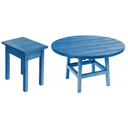 "Generations Blue 37"" Round Occasional Table Set"