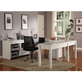 Boca U-Shape Credenza Home Office Set