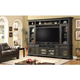 Bohemian Antique Cinder Storage Entertainment Wall
